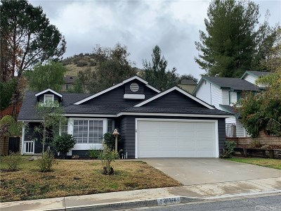 Castaic Single Family Home For Sale: 28518 Victoria Road
