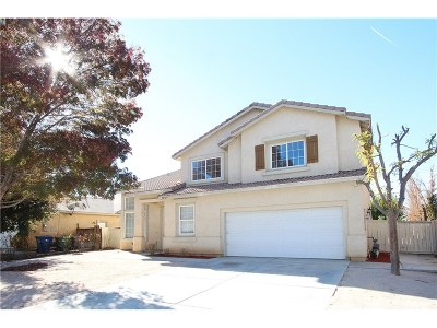 Palmdale Single Family Home For Sale: 38725 37th Street East