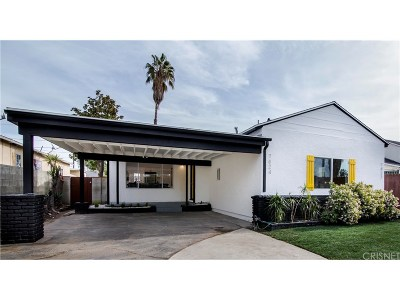 North Hollywood Single Family Home Active Under Contract: 7824 Morella Avenue