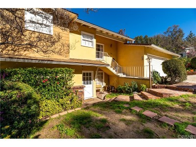 Glendale Single Family Home For Sale: 1879 Verdugo Loma Drive