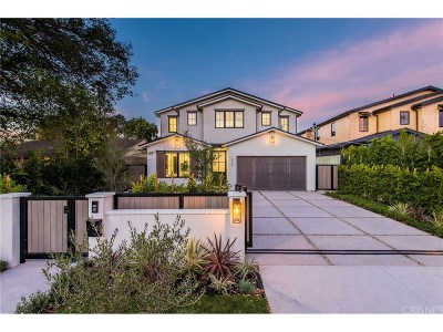 Studio City Single Family Home Sold: 12727 Hortense Street