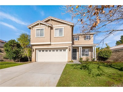 Castaic Single Family Home For Sale: 27991 Firebrand Drive