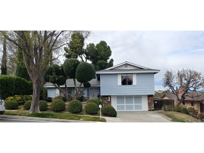 Newhall Single Family Home Active Under Contract: 26149 Abdale Street