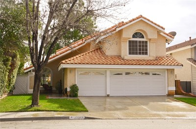 Saugus Single Family Home For Sale: 22251 Pamplico Drive