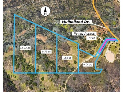 Tarzana Residential Lots & Land For Sale: Mulholland Dr.