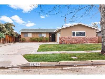Lancaster Single Family Home For Sale: 45244 17th Street West