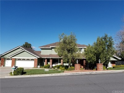 Saugus Single Family Home For Sale: 21827 Parvin Drive