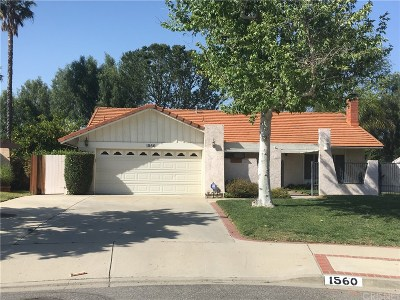 Simi Valley Single Family Home For Sale: 1560 Irene Court