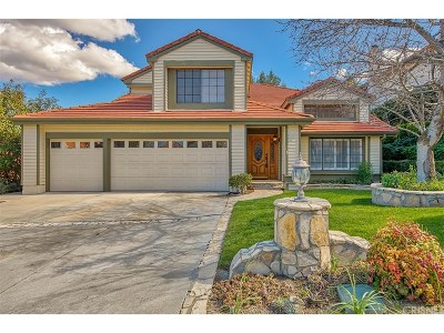 Newhall Single Family Home Active Under Contract: 24148 Creekside Drive