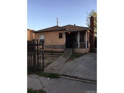 Los Angeles CA Single Family Home For Sale: $351,000
