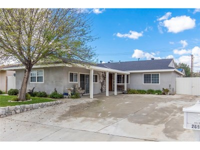 Saugus Single Family Home For Sale: 26679 Abajo Drive