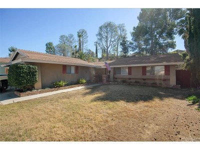 Newhall Single Family Home For Sale: 19628 Crystal Springs Court