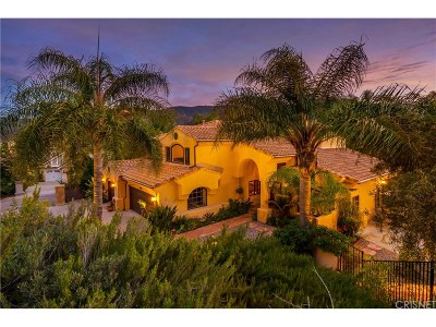 Agoura Hills Single Family Home For Sale: 29829 Vista Del Arroyo