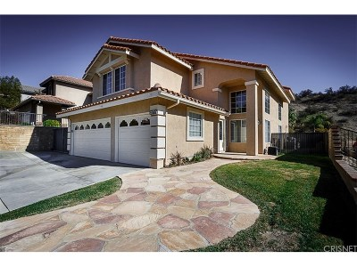 Saugus Single Family Home Active Under Contract: 28752 Park Woodland Place