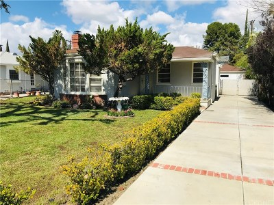 Valley Village Single Family Home Active Under Contract: 12433 Albers Street