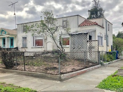 Los Angeles Single Family Home For Auction: 1876 West 38th Place