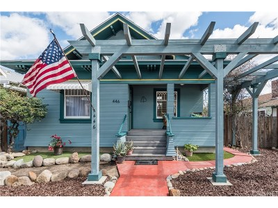 Fillmore Single Family Home Active Under Contract: 446 Central Avenue