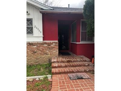 Winnetka Single Family Home For Sale: 20560 Ingomar