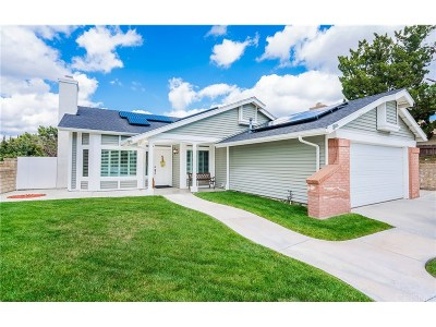 Saugus Single Family Home Active Under Contract: 22545 Honnold Drive