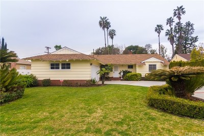 Valley Glen Single Family Home Active Under Contract: 5735 Ranchito Avenue