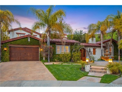 Calabasas CA Single Family Home For Sale: $2,750,000