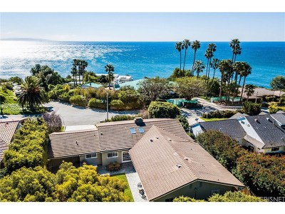 Malibu CA Single Family Home For Sale: $2,595,000