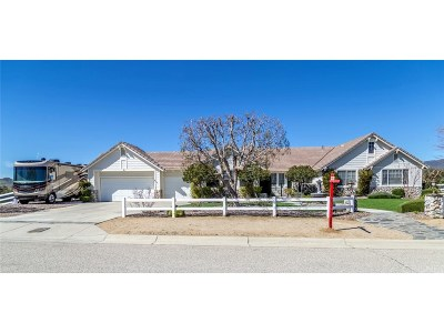 Agua Dulce Single Family Home For Sale: 34735 Sweetwater Drive