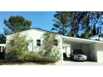 Single Family Home For Sale: 23777 Mulholland Hwy Spc 45