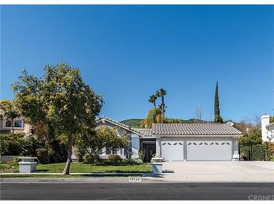 Granada Hills Single Family Home For Sale: 12636 Bradford Place