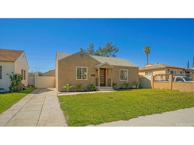 North Hollywood Single Family Home For Sale: 7425 Farmdale Avenue