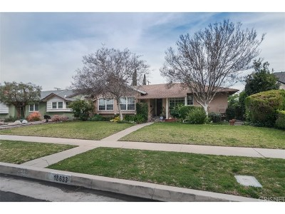 Single Family Home For Sale: 18633 Gledhill Street