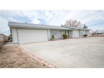 Los Angeles County Single Family Home For Sale: 40345 162nd Street East