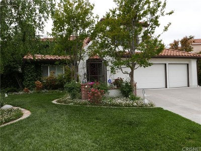 Newhall Single Family Home Active Under Contract: 24453 Brook Court