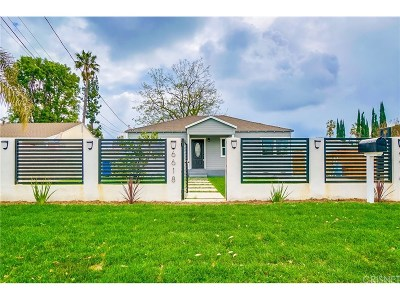 Single Family Home For Sale: 6618 Gaviota Avenue