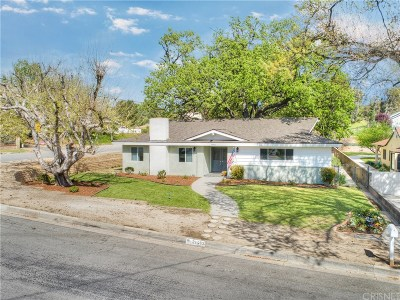 Newhall Single Family Home For Sale: 24462 Cross Street