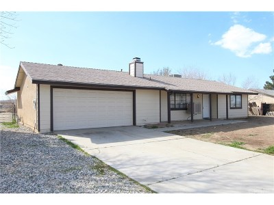 Lancaster Single Family Home For Sale: 40955 159th Street East