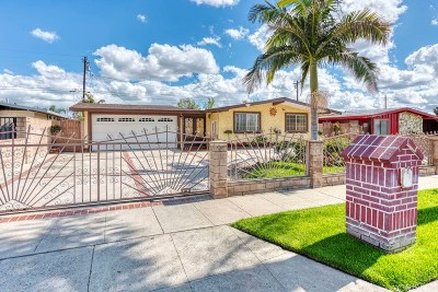 San Fernando Single Family Home Active Under Contract: 1108 North Macneil Street