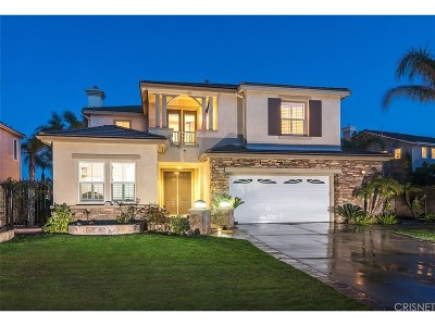 Stevenson Ranch Single Family Home Active Under Contract: 26072 Tennyson Lane