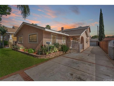 San Fernando Single Family Home Active Under Contract: 534 North Workman Street