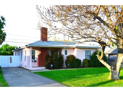 Van Nuys Single Family Home Active Under Contract: 15223 Leadwell Street