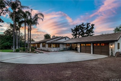 Newhall Single Family Home For Sale: 21751 Placeritos Boulevard