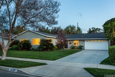 Canoga Park Single Family Home Active Under Contract: 22316 Covello Street