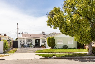 North Hollywood Single Family Home Active Under Contract: 12012 Lorne Street
