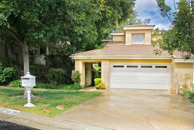 Westlake Village Condo/Townhouse For Sale: 5639 Roundtree Place
