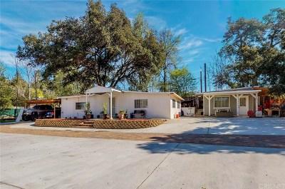 Agua Dulce Single Family Home For Sale: 13117 Sierra