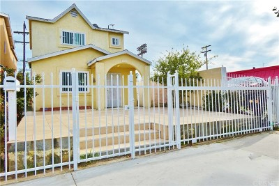 Los Angeles Single Family Home For Sale: 874 West Manchester Avenue