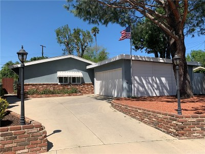 Sylmar Single Family Home Active Under Contract: 13327 Pasha Place