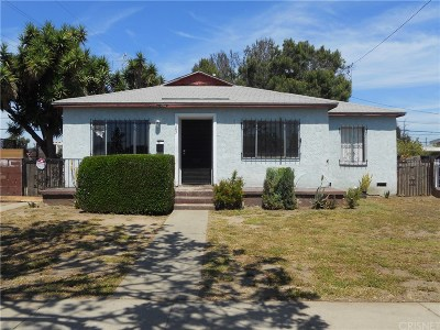 Los Angeles County Single Family Home For Sale: 703 East 121st Street