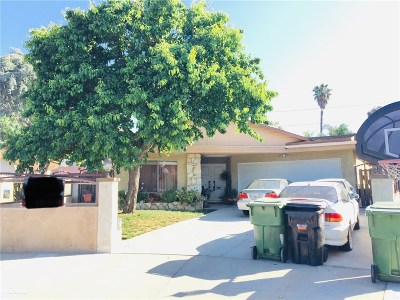 Mission Hills San Fernando Single Family Home For Sale: 10848 Stanwin Avenue