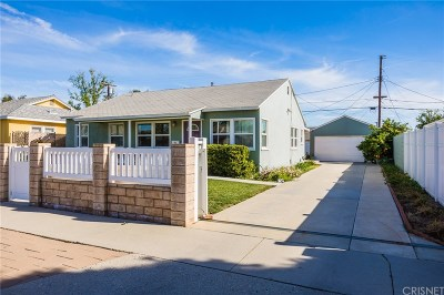 Northridge Single Family Home Active Under Contract: 17622 Willard Street